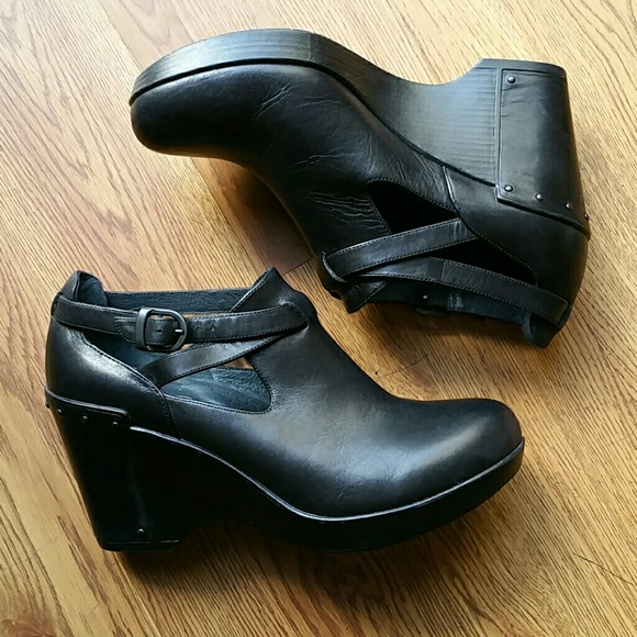 8bb92c90db Dansko Shoes | Franka Wedge Black Shoe | Poshmark
